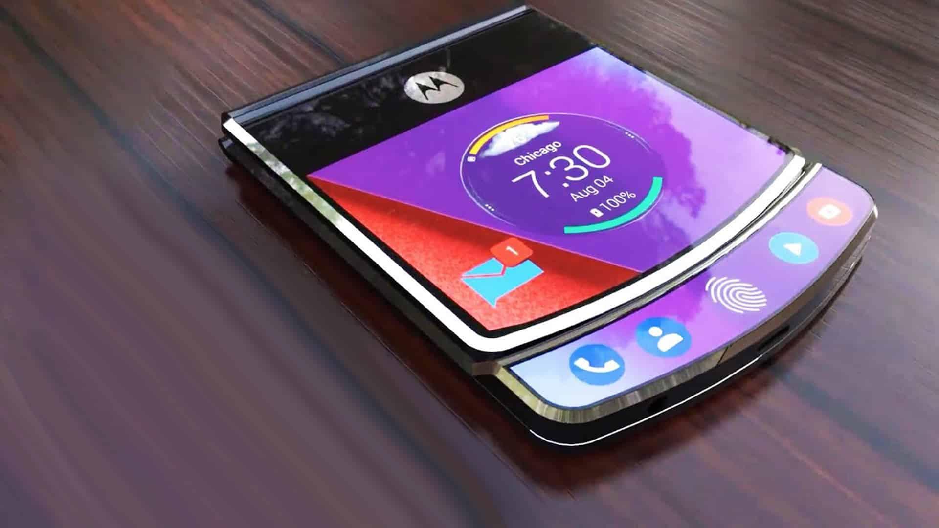 Le smartphone pliable de Motorola